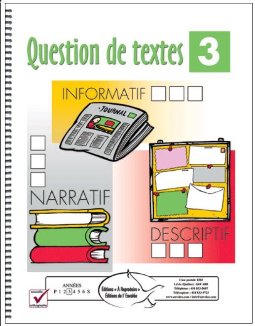 questions de textes 3