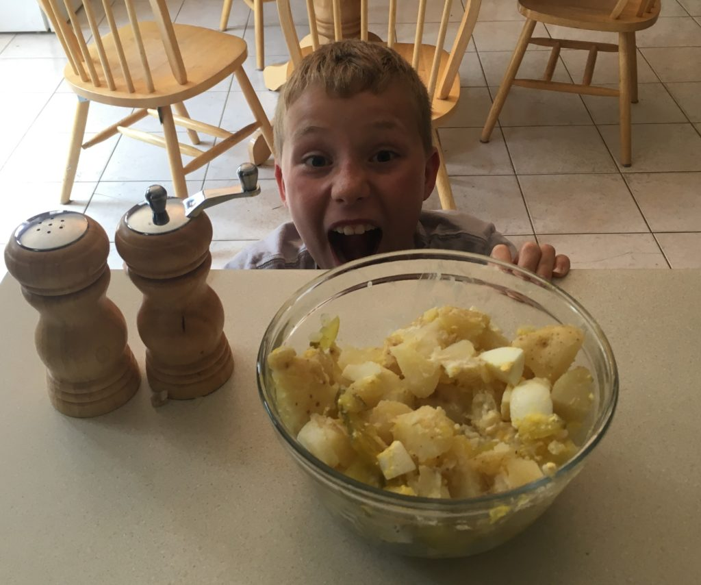 Seriously excited about potato salad